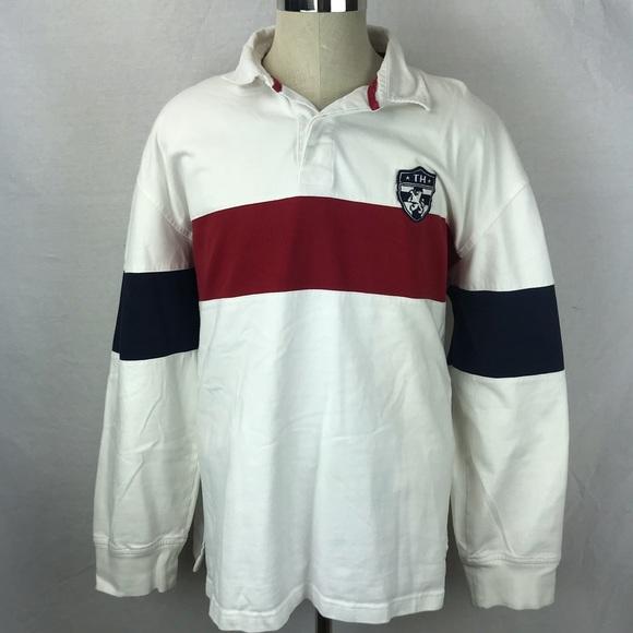 ab3a0db2 Tommy Hilfiger Shirts | Xxl Heavy Ls Rugby Polo Box Logo | Poshmark